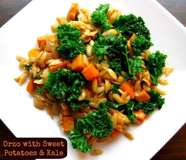 Orzo with Sweet Potatoes & Kale   FOOOD ♡   Pinterest
