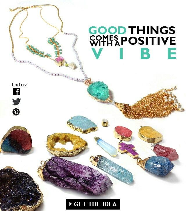 New geodes pendants and charms New collection fw 2015 jewelry material Get inspired Get excited