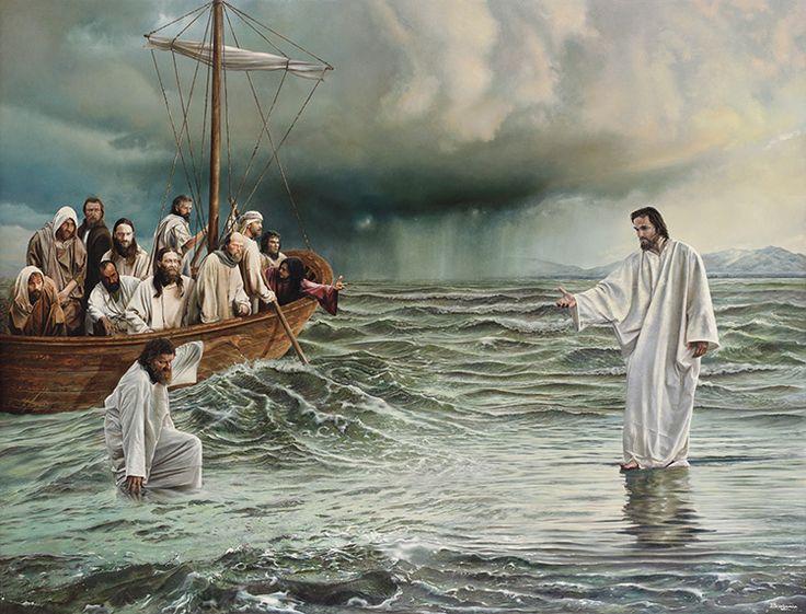 Jesus andando sobre as águas Wallpaper Jesus caminha sobre a água wallpaper