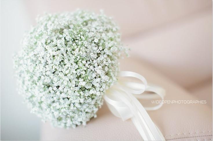 Gypsophila bridesmaids posies light and airy design.