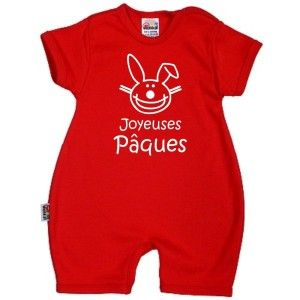 Barboteuse bébé rigolote : Joyeuses PÂQUES