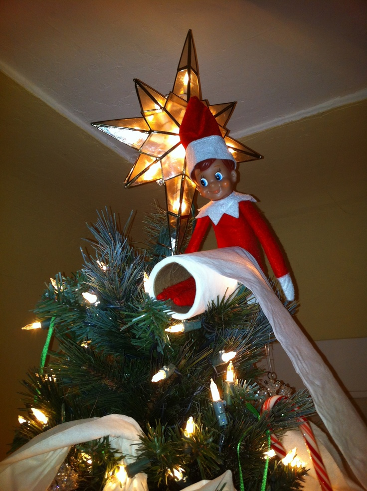Elf On The Shelf Tp On The Christmas Tree Elf On The
