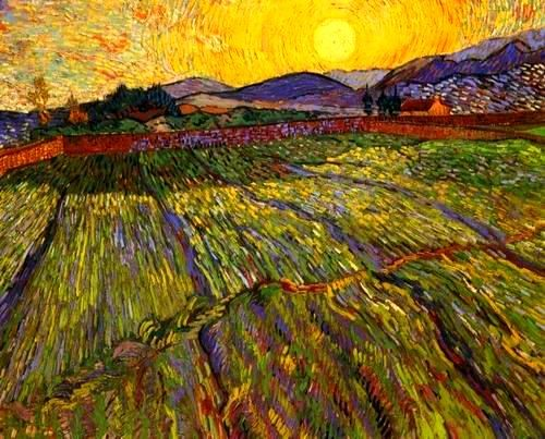 Van Gogh - Enclosed Field with Rising Sun