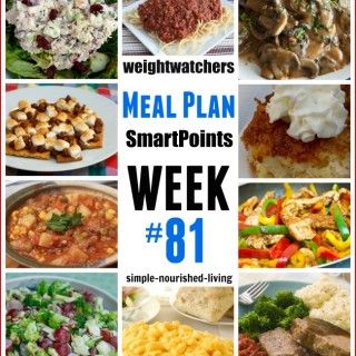 Weight Watchers Weekly Meal Plan #81 {Smart Points}