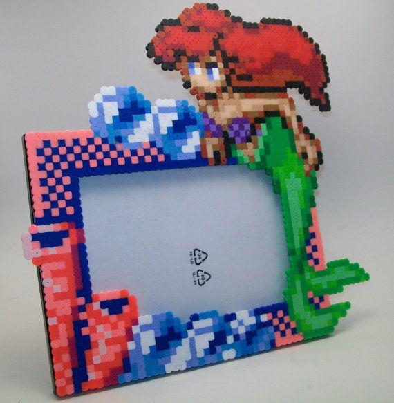 Little Mermaid photo perler bead frame