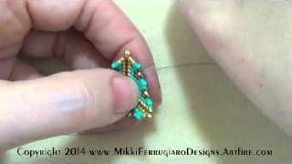 HOW TO MAKE PUFFY TRIANGLE WITH BEADS - YouTube