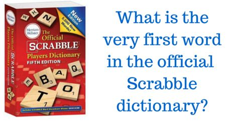 HINT: The answer is *not* AARDVARK...