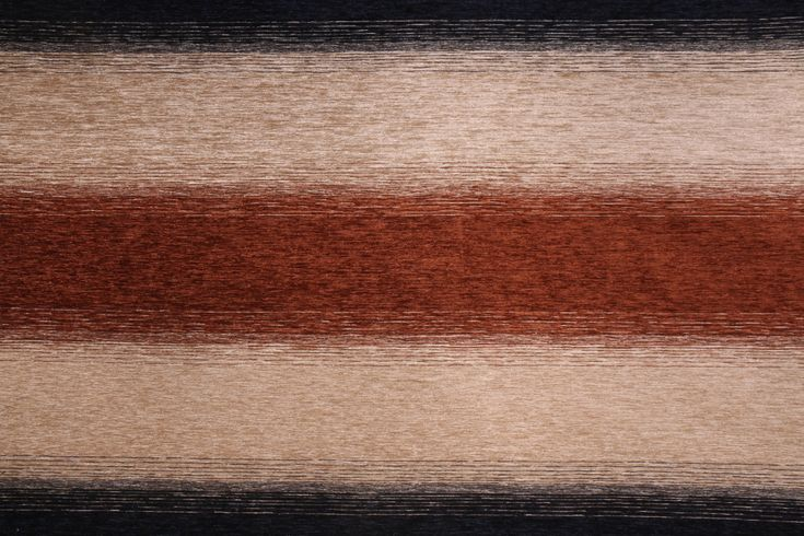 """Robert Allen Nadu RR BK Chenille Stripe Upholstery Fabric in Cognac. This fabric may ship directly from Robert Allen. Please allow an extra 3 to 5 business days for delivery.      Width: 54"""" (inch..."""