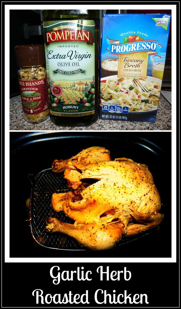 Easy Garlic Herb Roasted Chicken