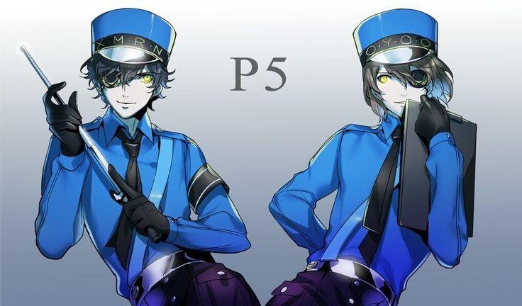 Persona 5 Akira and Akechi (The Velvet Room) Persona