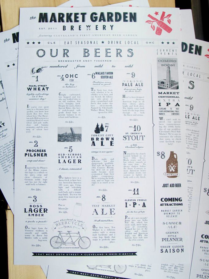 market garden brewery | designed by stephanie sheldon #cleveland