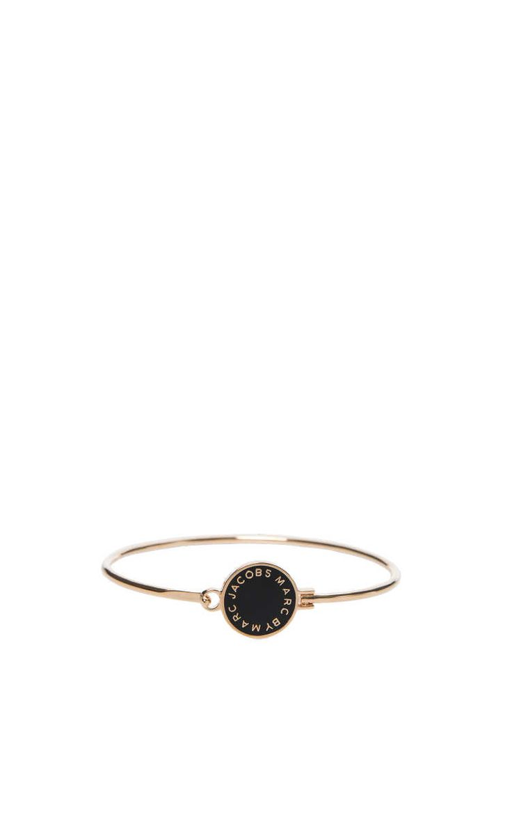 Armband Skinny Enamel Disc BLACK/GOLD - Marc by Marc Jacobs - Designers - Raglady