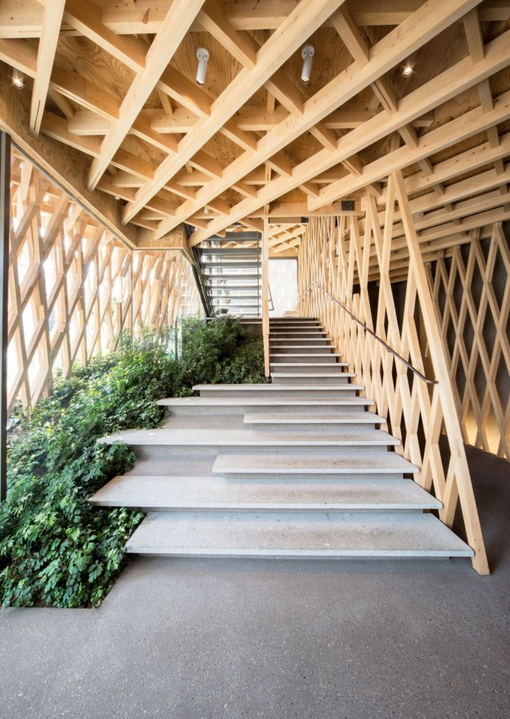 Marvellous staircase cocooned in timber!