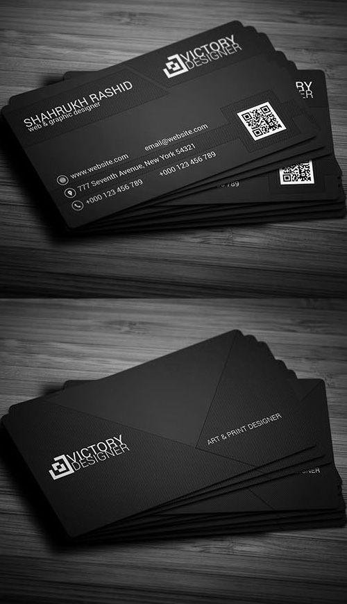 Black Corporate Business Card #businesscards #businesscardtemplates #printready #corporatedesign