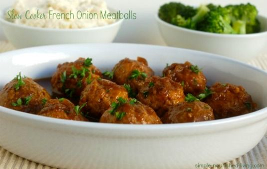 Easy Slow Cooker French Onion Meatballs | Crock Pot Cooking ...