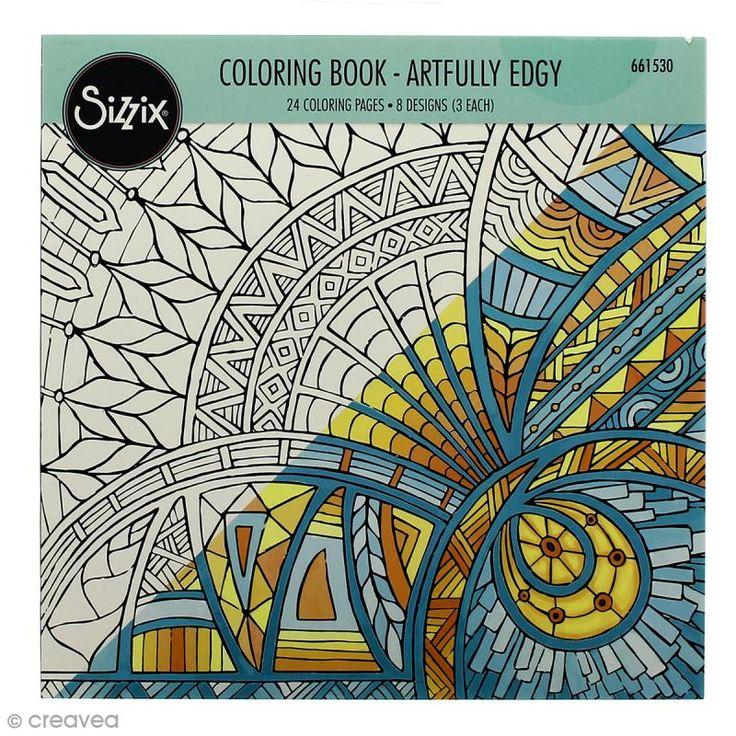 Livre coloriage adulte Sizzix Encadrement Artistique - 24 coloriages