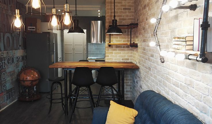 Old wood and pipe loft dinner table. Обеденный стол в стиле лофт из амбарной доски и труб