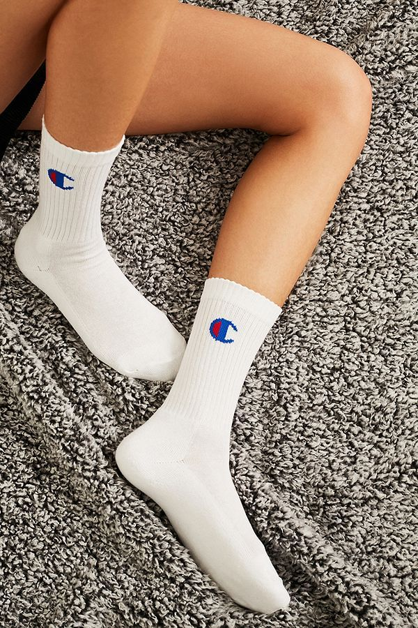 4558474c1 Slide View  1  Champion White Crew Socks 3-Pack