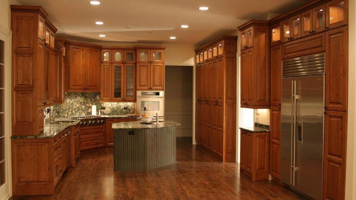 pics of kitchens with cherry cabinets | Cherry Clear Alder ...