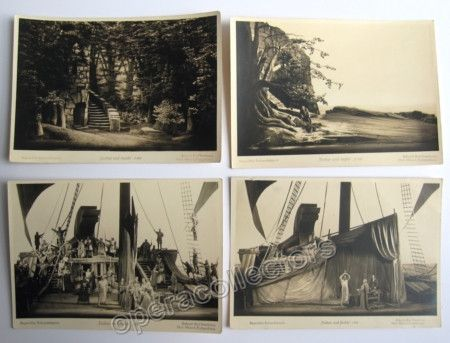 Tristan und Isolde - Group of 4 postcards