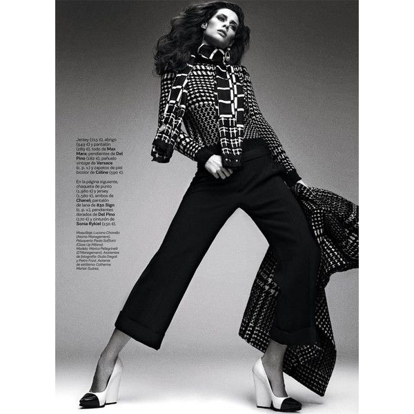 Marica Pellegrinelli Sports 80's Glam for S Moda via Polyvore