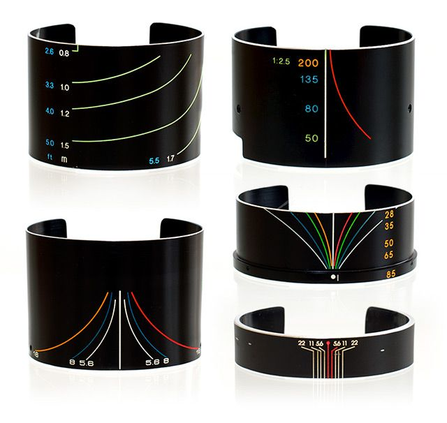 Vintage Camera Lens Bracelets by SDPNT. Every piece is one-of-a-kind