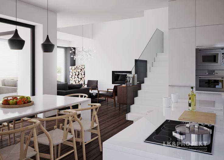 LK&1286 - projekt salonu z jadalnią