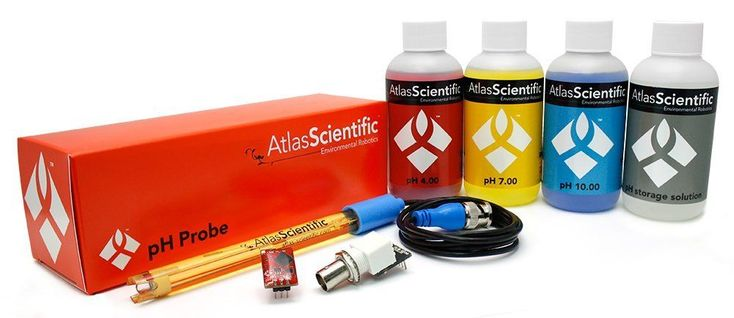 pH Test Kit with pH Probe, Calibration & Storage Solutions, pH Circuit & BNC Connector Female - Development Kit for Arduino - pH Testing for Hydroponic System, Soil, Fresh or Salt Water, Field use