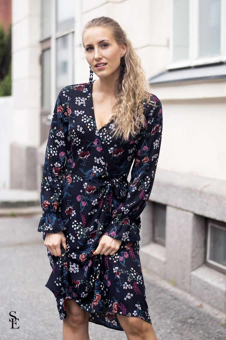 sandraemilia, outfit, flower, dress, autumn, 2017 8