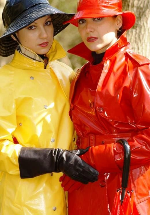 Seduction lesbian and yellow gloves