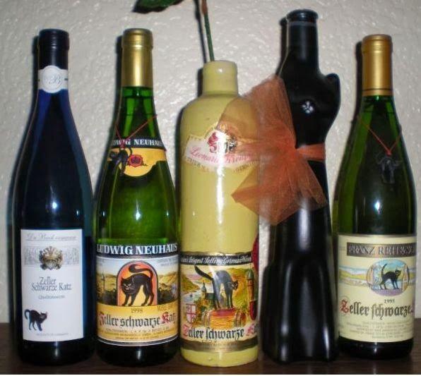 "My Zeller Schwarze Katz ""Black Cat"" Wine Bottle Collection"