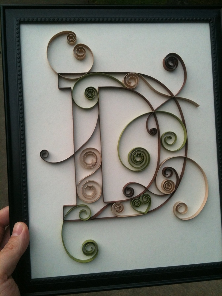 e43409cef58481b9342dfd5d80326475 Quilling Letter Template D on