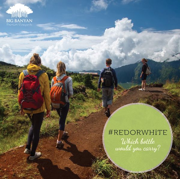 #RedOrWhite – which wine would you take along on a hiking trip this weekend?