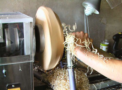 A lathe made from people's rubbish. I am going to have to try this.
