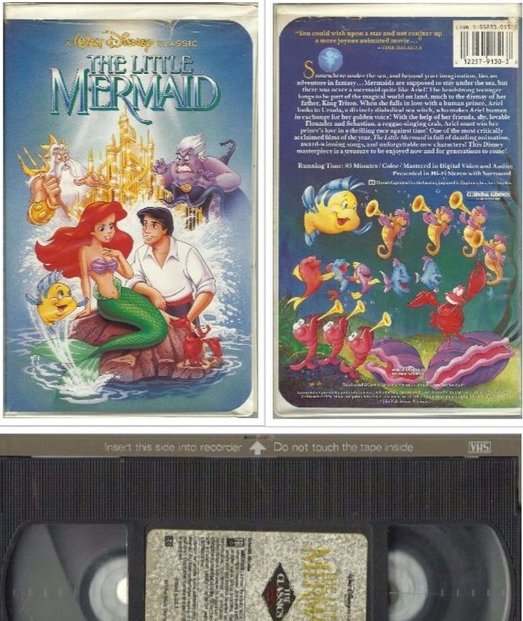 RARE BLACK DIAMOND The Little Mermaid (VHS, 1990) Clamshell Case in DVDs Movies , VHS Tapes |eBay