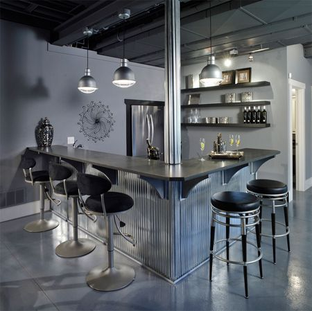 Corrugated sheet metal home bar design ideas pinterest metal homes corrugated metal and - Metal home designs ideas ...