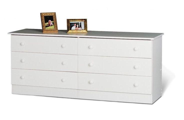 Edenvale White 6 Drawer Dresser