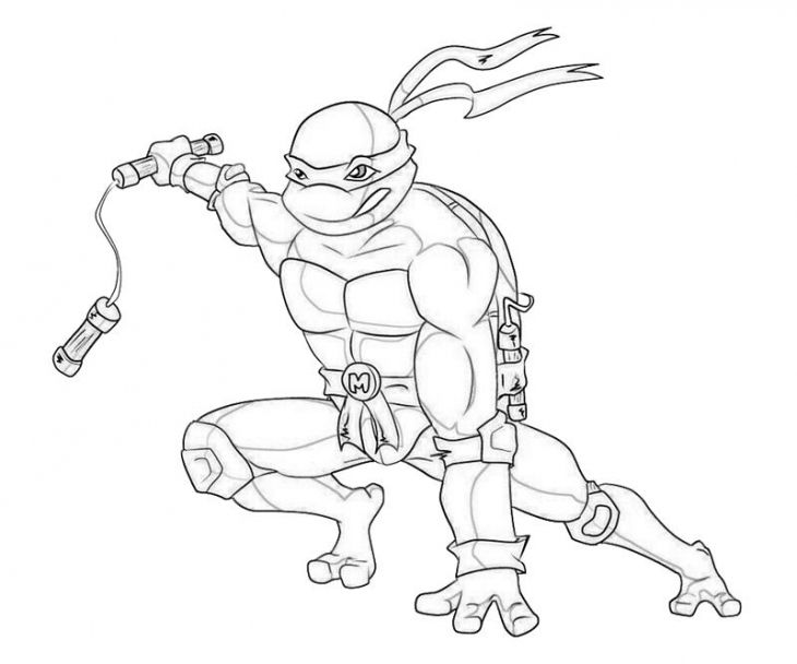 Free Online Coloring Page Of Michelangelo From TMNT To Print