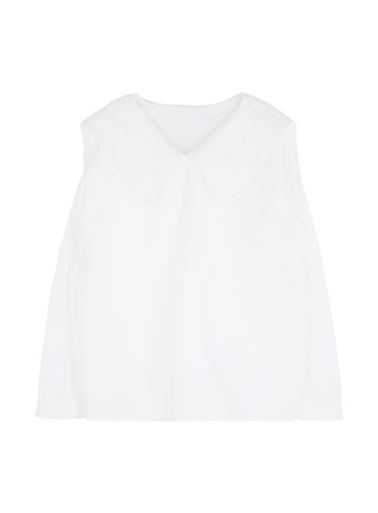 White Sailor Collar Blouse | MIX X MIX | Shop Korean fashion casual style clothing, bag, shoes, acc and jewelry for all