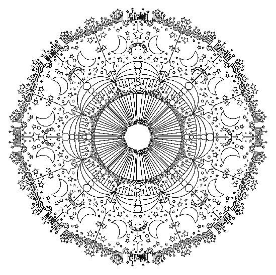 mandala abstract art coloring pages printable free colouring