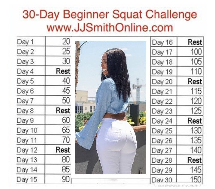 JJ Smith Is At It Again. Squat Challenge For Beginners