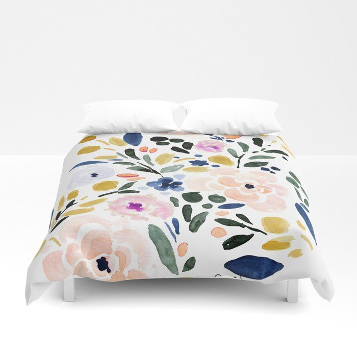 Buy Sierra Floral Duvet Cover By Crystalwalen Worldwide Shipping