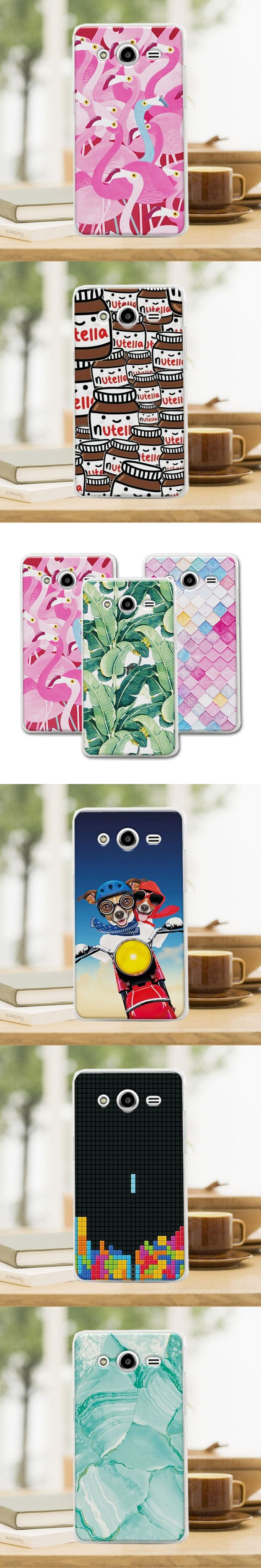 Mermaid Newest Flamingo Cute Phone Case For Samsung Galaxy Core 2 G355H SM-G355H Case Cover For Samsung G355H 4.5 inch+Free Gift