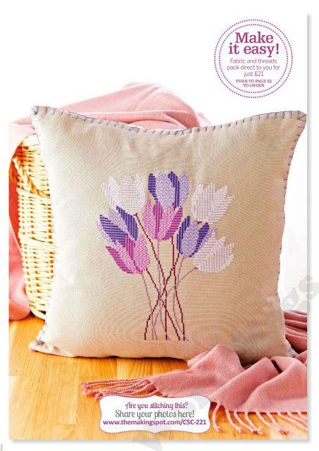 PATRONES PUNTO DE CRUZ GRATIS: Bello gráfico gratis de unos tulipanes a punto de ...