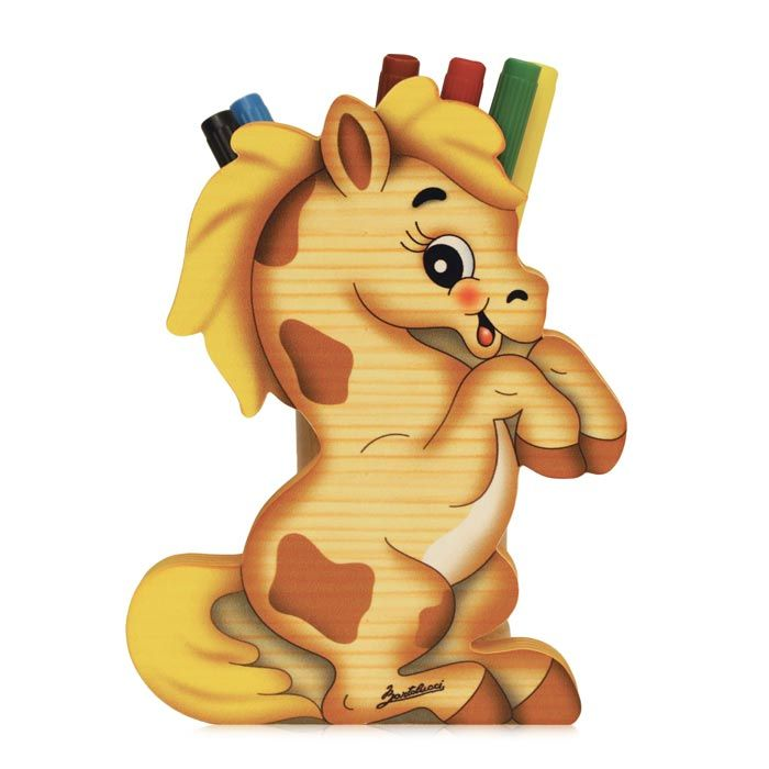 Horse Pen Holder | Brighten Up a Kids Desk | Made in Italy by Bartolucci
