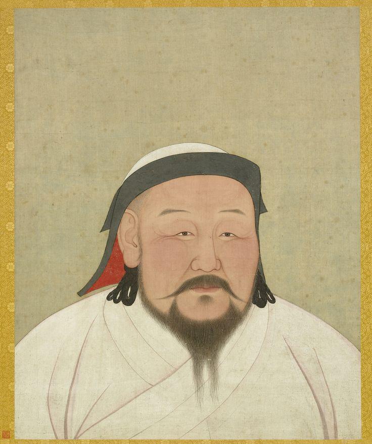 YuanEmperorAlbumKhubilaiPortrait.jpg (1339×1600) In Xanadu did Kubla Khn a mighty pleasure dome... Xanadu - city of of looted empires