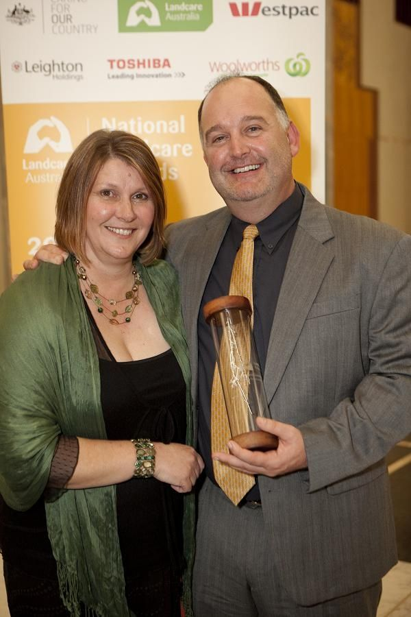 Us at the national landcare awards bringing home the big one!