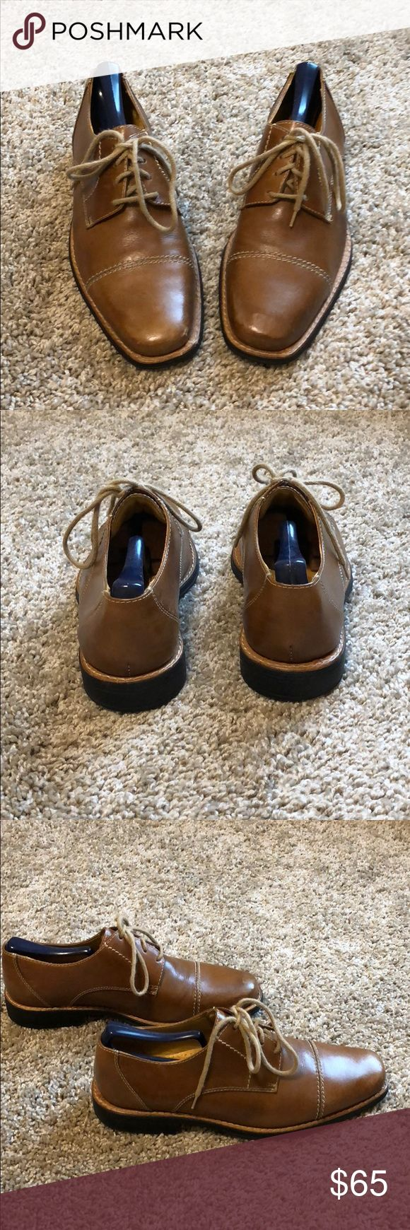 Sandro Moscoloni Elbert Captoe Derby shoes Excellent used condition, minor scuffs, minimal wear on the sole, fabulous cognac color. (Buy new for $99: https://m.shop.nordstrom.com/s/sandro-moscoloni-elbert-cap-toe-derby-men/4704515) Sandro Moscoloni Shoes