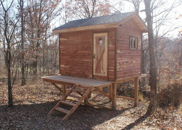 Hunting Cabin Plans | Catalog > Hunting Cabin Kits > 8' x 12' Enclosed