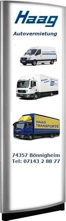 HAAG Autovermietung+Transporte Baden Württemberg Bönnigheim,74357 - Haag Transporte-Spedition